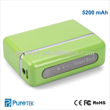 Newest portable 5200mAh power bank for all smartphones