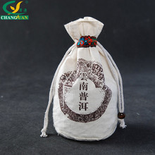 cotton cloth drawstring pu'er tea packaging bag