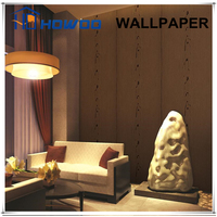 Howoo natural light color solid high quality non woven wallpaper