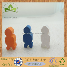 wooden game animal person shape chess pieces