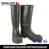 Rubber mid-heel pvc transparent rain boots for kids
