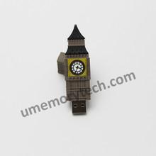 Wholesale full capacity famous Big Ben shape memory stick usb flash drive