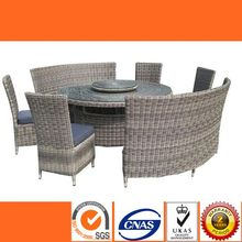 HL6087 Latest designs of european style dining room set good quality rattan garden patio d