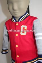 Cheap polyester kids/baby baseball jacket wholesale/toddler jackets