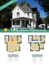 Two Floor Economy Light Steel Structure Framing Prefabricated Villa