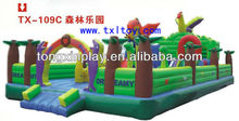 2013 Hot Sale Inflatable Bouncer Slide Series--Forest Happy Park TX-109C