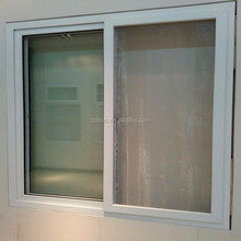 double clear glass pvc sliding reception window