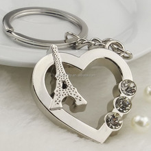 Top sale high quality nice heart and tower keychain