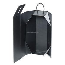 Foldable wine box packaging box