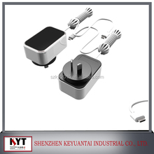 Keyuantai 24W 5V Dual USB port Power Adapter 5V 3A /12V 2A/12V 1.5A/24V 1A USB Charger KYT-804 with EU/US/KC AC Plug