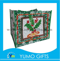 t-shirt packaging non woven bags with ribbon handle