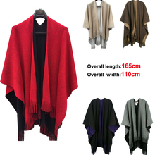 2015 new fashion two-sided style cashmere pashmina with tassel wholesale have stock