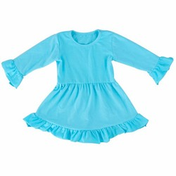 New design pink ruffle one piece baby girl party dress children frocks designs