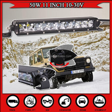11 INCH 50W LED Light Bar For Offroad LIGHT Truck Tractor SUV ATV Boat LED Work Headlight Driving CAR DRL External Light 30W