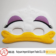 Cheap party favor decorative funny duck felt masks for kids