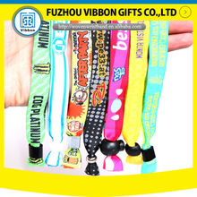security music festival fabric wristband woven bracelet for charity