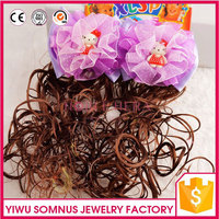 indian brazilian peruvian malaysian human virgin full lace spring curl hair extension weaving wig flower accessory B026