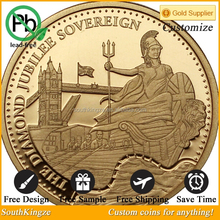 Buy cheap brass antique the diamond Jubille sovereign foreign coins