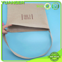New style wholesale plain jute shopping bag with handle