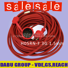 Schuko Plug Rubber Cords H05RN-F Super Quality High Flexible GS Certified competitive price