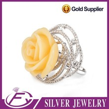 High quality natural cz stone 925 sterling silver indian rose cut diamonds jewelry