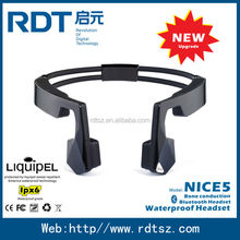 China bone conduction bluetooth headset waterproof headphone for fitness