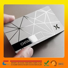 4-color process printed on white aluminum metal warranty card laser cut metal cheap business card
