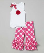 Hot design summer teen girl clothing set girls stripes pant set summer teen girl clothing set