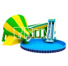 10m diameter outdoor metal frame swimming pool for amusement park