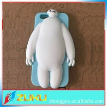 2015 hot colorful Baymax silicone coverfor iPhone 5 case , cartoon 3D baymax cover