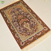 2.5x4ft 100% hand-knotted beautiful persian silk carpets or rugs