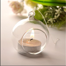 wholesale hanging glass ball candle holder/glass globe Valentine's Day gift