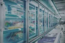 Reach-in display cases freezer glass door commercial display