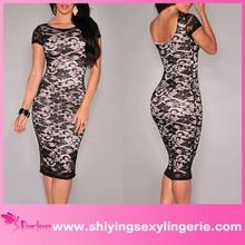 2015 wholesale Black Lace super plus size wedding dresses pron