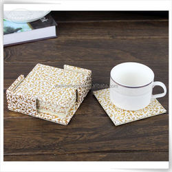 2015 Hot promotion leather ab coaster for home, manufecture wholesale