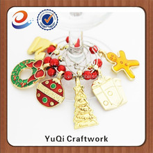 Trade Assurance manufacturer christmas style wine charms santa wine glass charms
