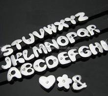 8mm cute single rhinestone bubble slide letter bead for jewelry making