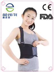 best selling product customized exercise abdominal double strap waist band shoulders back brace to correct posture