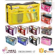 2015 wholesale nylon ladies organizer cosmetic women toiletry bag for travel