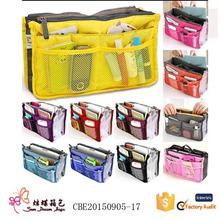 Top Selling 190T taffeta ladies organizer cosmetic hanging toiletry bag for promotion
