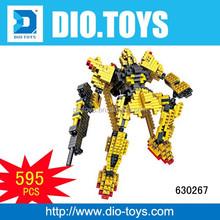 Juguetes educativos bloques de construcción de plástico juguetes figura bricks robot juguetes