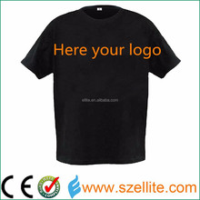 Hottest! Wholesale factory price music active party led promotional t-shirts