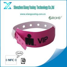 2015 new product closed-end PVC disposable rfid wristband