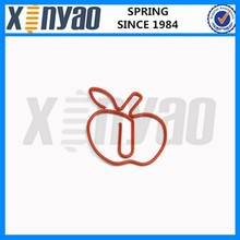 Red apple shaped paper clip