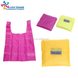 cheap foldable nylon shopping bag with two handles