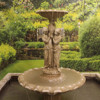 Natural Stone Carved Outdoor Water Fountain With Figure Statue