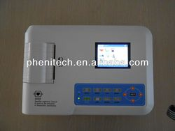 digital 3 channel 12 leads Portable ECG EKG Machine+Printer,12 leads Portable ECG EKG Machine+Print