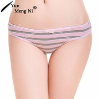 best selling beautiful girl daily thongs cotton striped teen girls thongs