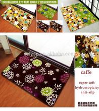 printed design 100%polyester washable bathroom carpet tiles
