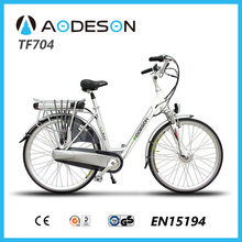 2015 Best selling 700C electric bike bicycle with lithium battery 250w geared hub motor e bike